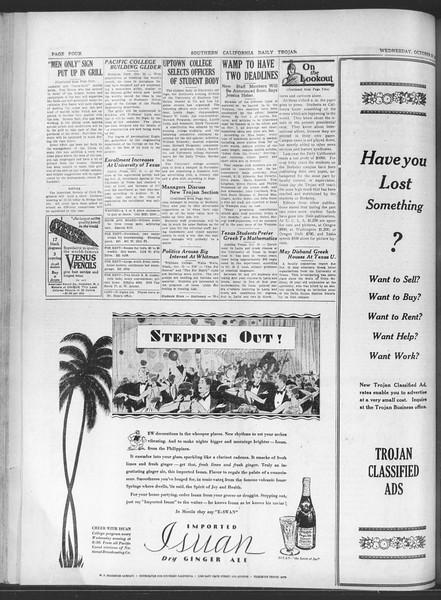 Daily Trojan, Vol. 20, No. 29, October 24, 1928