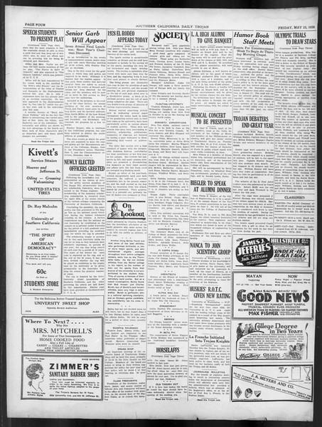 Daily Trojan, Vol. 19, No. 143, May 28, 1928