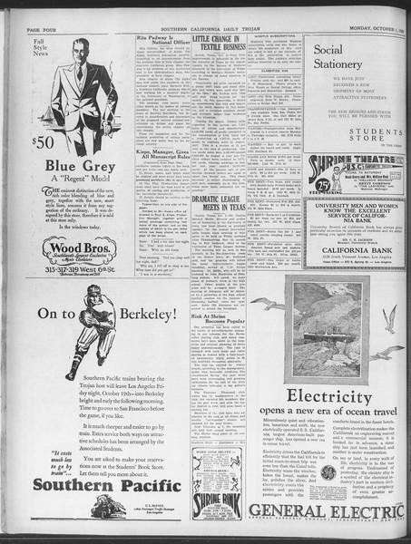 Daily Trojan, Vol. 20, No. 12, October 01, 1928