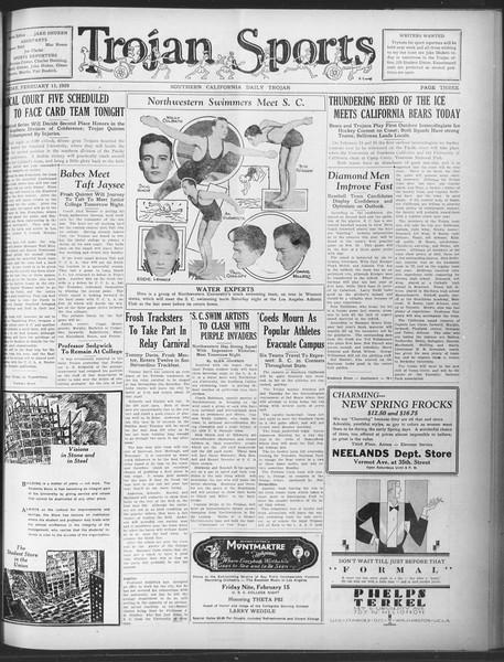 Daily Trojan, Vol. 20, No. 84, February 15, 1929