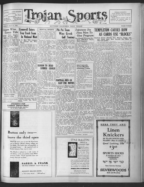 Daily Trojan, Vol. 20, No. 145, May 21, 1929