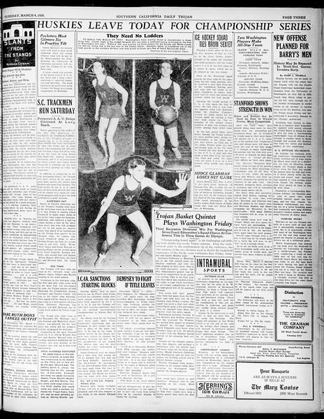 Southern California Daily Trojan, Vol. 21, No. 94, March 04, 1930