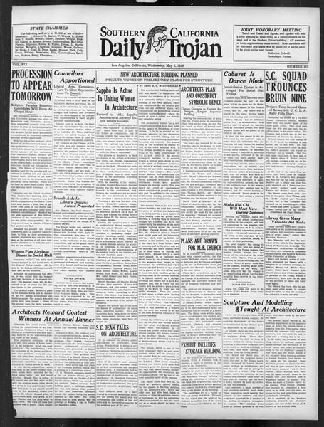 Daily Trojan, Vol. 19, No. 125, May 02, 1928