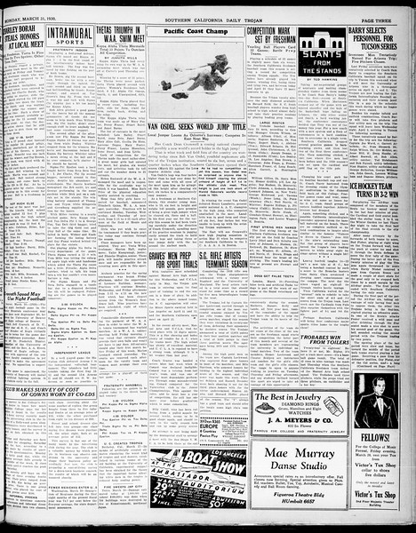 Southern California Daily Trojan, Vol. 21, No. 113, March 31, 1930