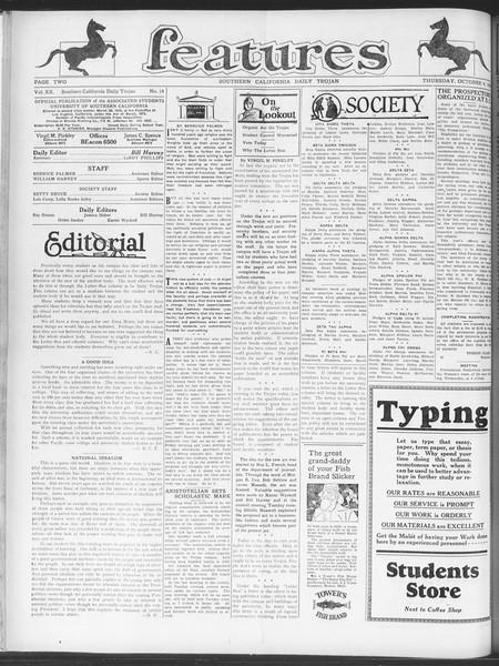 Daily Trojan, Vol. 20, No. 15, October 04, 1928