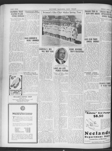 Daily Trojan, Vol. 20, No. 114, April 05, 1929