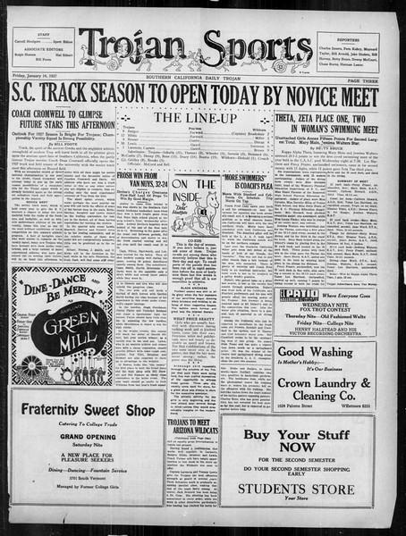 Daily Trojan, Vol. 18, No. 71, January 14, 1927