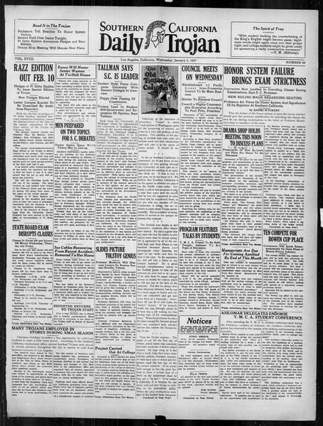 Daily Trojan, Vol. 18, No. 64, January 05, 1927