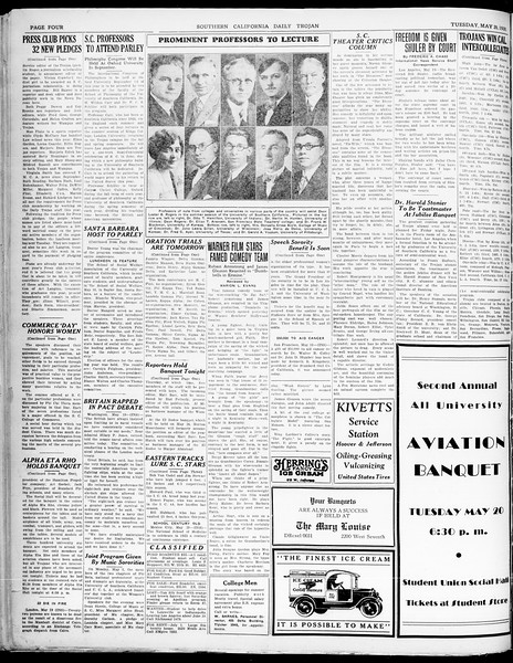Southern California Daily Trojan, Vol. 21, No. 142, May 20, 1930