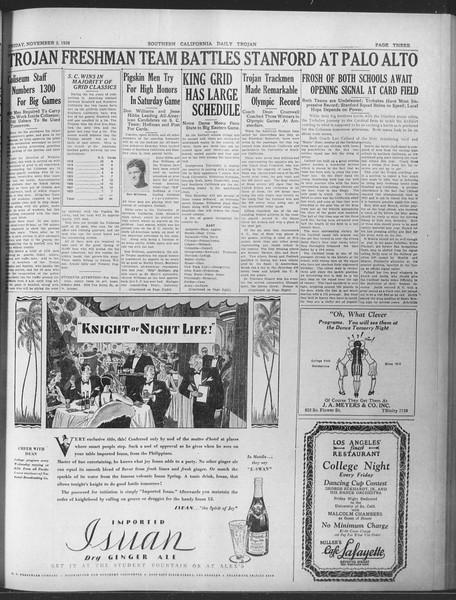 Daily Trojan, Vol. 20, No. 36, November 02, 1928
