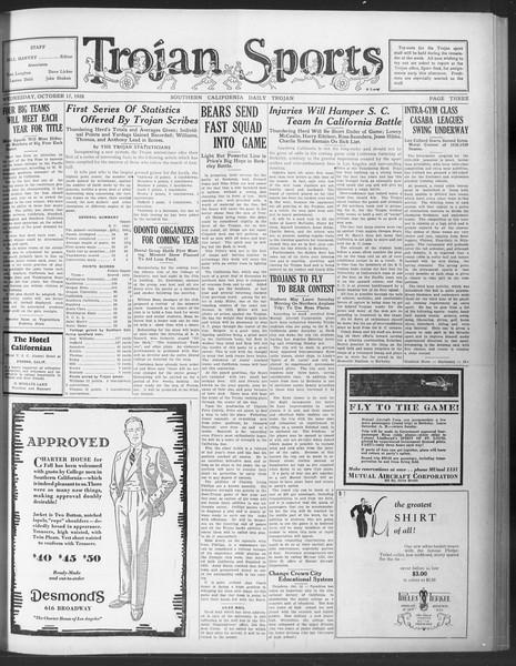 Daily Trojan, Vol. 20, No. 24, October 17, 1928