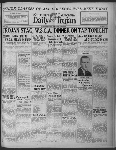Daily Trojan, Vol. 20, No. 131, May 01, 1929