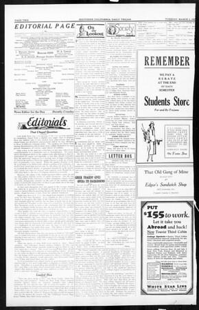 Daily Trojan, Vol. 16, No. 60, March 03, 1925