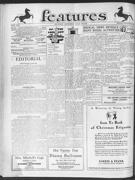 Daily Trojan, Vol. 20, No. 61, December 14, 1928