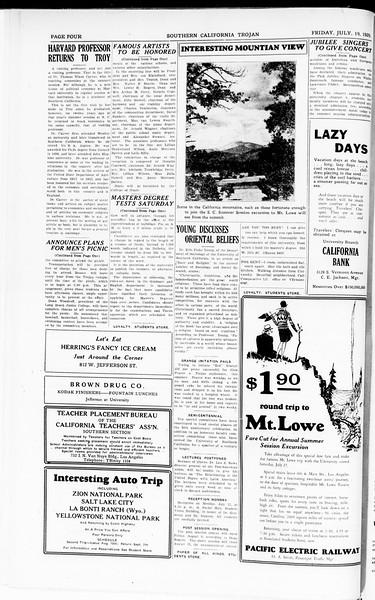 The Southern California Trojan, Vol. 8, No. 6, July 19, 1929
