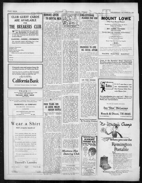Daily Trojan, Vol. 19, No. 28, October 26, 1927