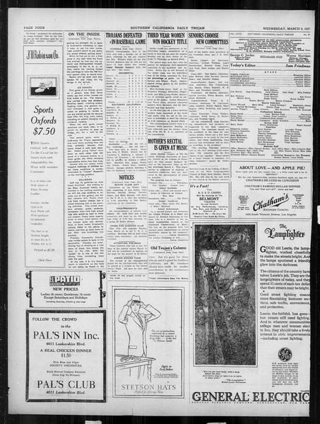 Daily Trojan, Vol. 18, No. 97, March 09, 1927