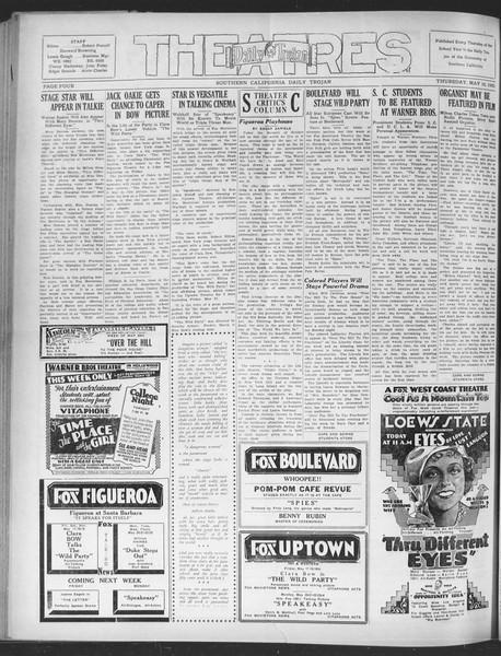 Daily Trojan, Vol. 20, No. 142, May 16, 1929
