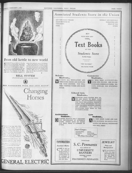 Daily Trojan, Vol. 20, No. 78, February 07, 1929