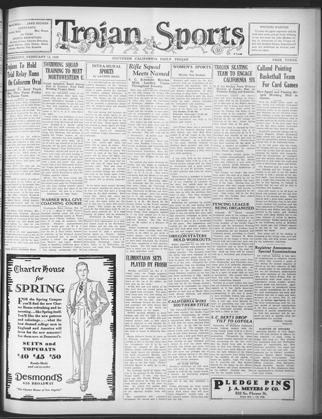 Daily Trojan, Vol. 20, No. 82, February 13, 1929