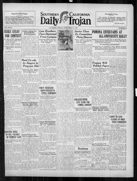 Daily Trojan, Vol. 18, No. 94, March 04, 1927