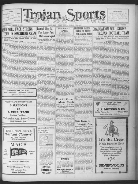 Daily Trojan, Vol. 20, No. 42, November 13, 1928