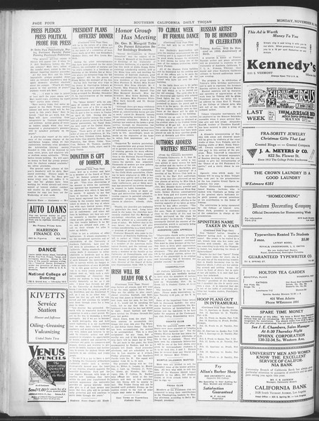 Daily Trojan, Vol. 20, No. 51, November 26, 1928