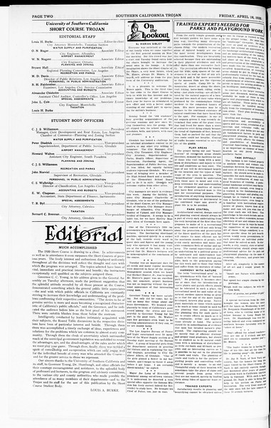The Southern California Trojan: School of Citizenship and Public Administration, Vol. 3, No. 4, April 18, 1930