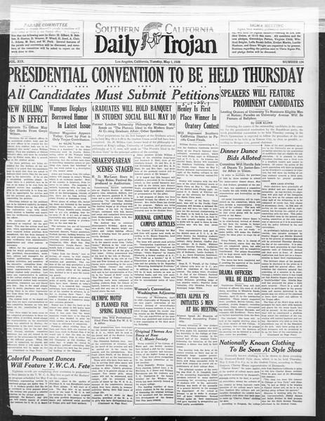 Daily Trojan, Vol. 19, No. 124, May 01, 1928