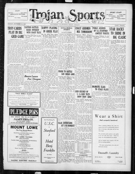 Daily Trojan, Vol. 19, No. 20, October 14, 1927