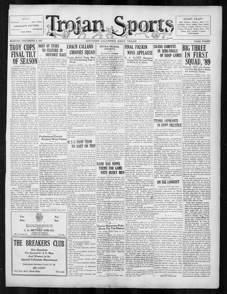 Daily Trojan, Vol. 19, No. 51, December 05, 1927