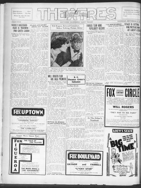 Southern California Daily Trojan, Vol. 21, No. 3, September 19, 1929