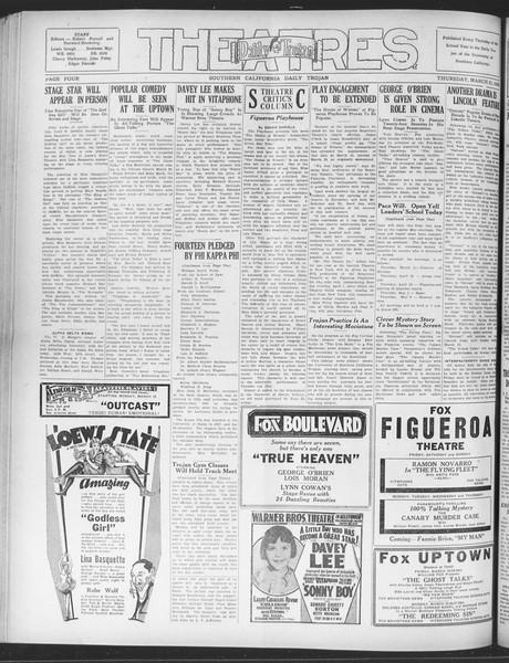 Daily Trojan, Vol. 20, No. 109, March 21, 1929