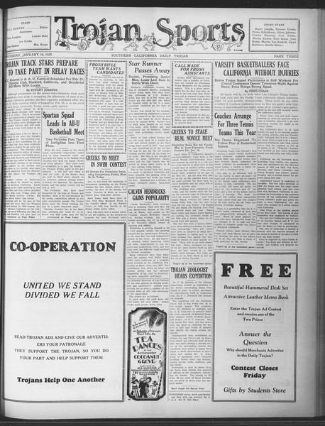 Daily Trojan, Vol. 20, No. 67, January 10, 1929
