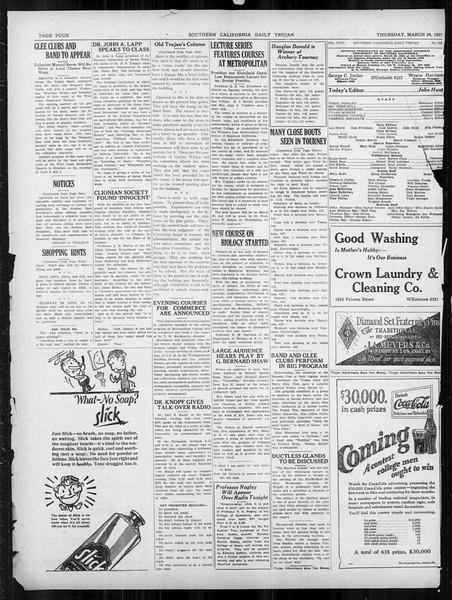 Daily Trojan, Vol. 18, No. 108, March 24, 1927
