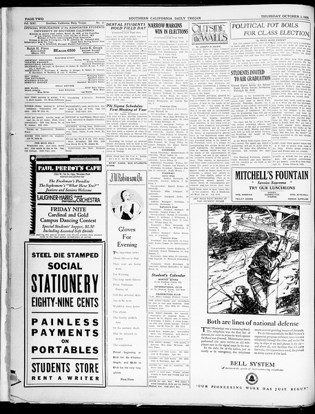 Southern California Daily Trojan, Vol. 21, No. 13, October 03, 1929