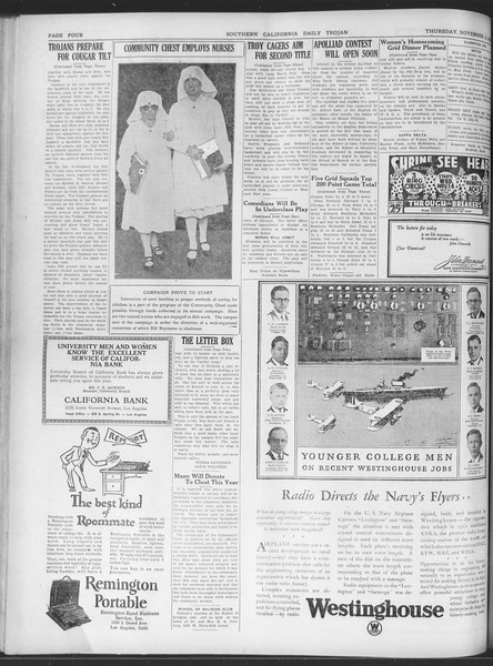 Daily Trojan, Vol. 20, No. 44, November 15, 1928
