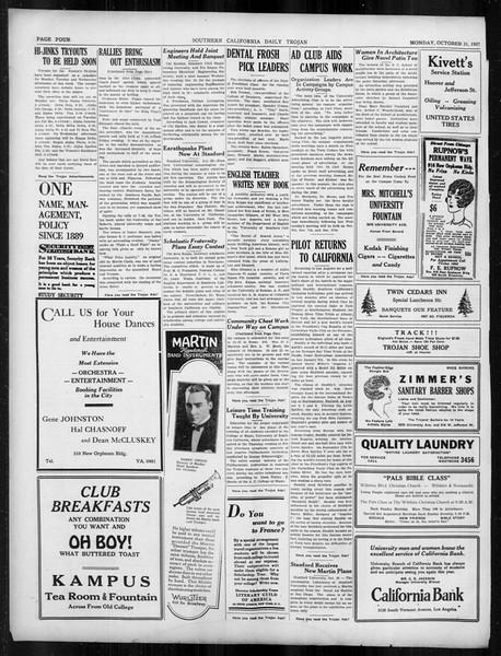 Daily Trojan, Vol. 19, No. 31, October 31, 1927