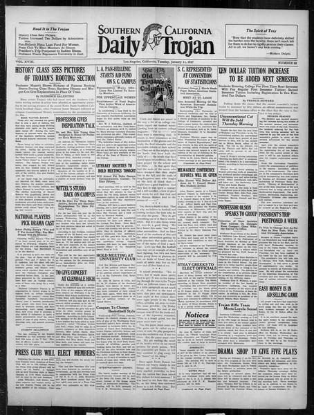 Daily Trojan, Vol. 18, No. 68, January 11, 1927