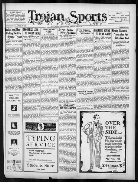 Daily Trojan, Vol. 19, No. 115, April 18, 1928