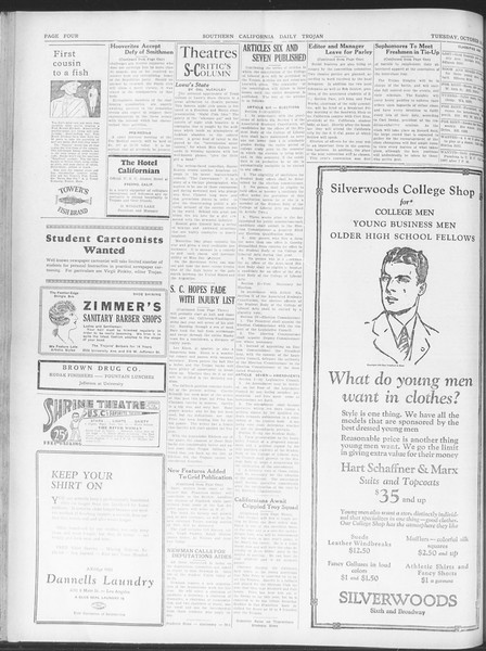Daily Trojan, Vol. 20, No. 23, October 16, 1928