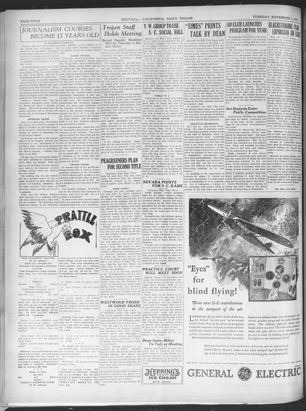 Southern California Daily Trojan, Vol. 21, No. 36, November 05, 1929