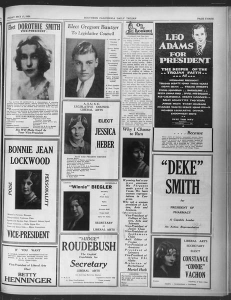 Daily Trojan, Vol. 20, No. 143, May 17, 1929