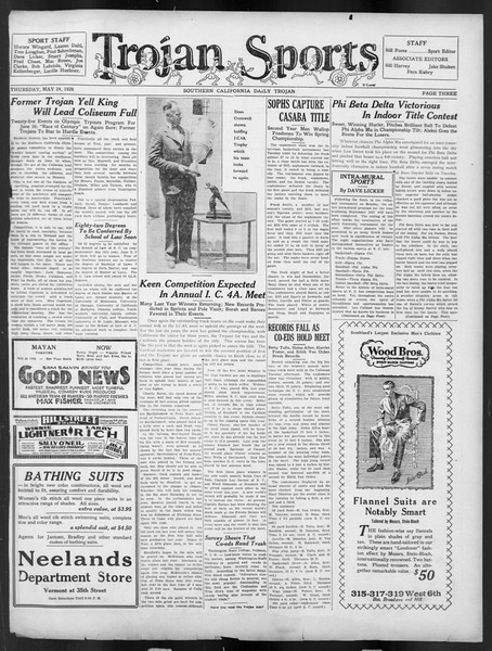 Daily Trojan, Vol. 19, No. 141, May 24, 1928