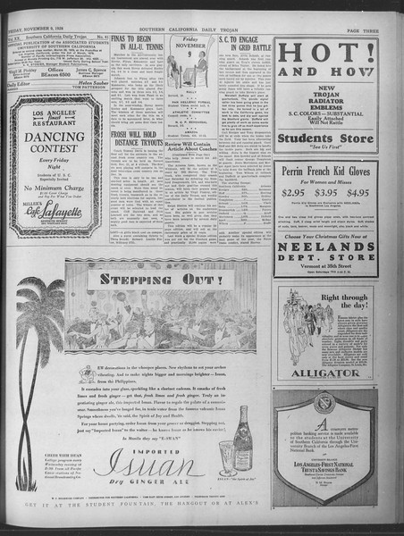 Daily Trojan, Vol. 20, No. 41, November 09, 1928