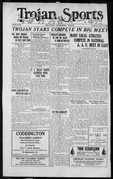 The Southern California Trojan, Vol. 6, No. 2, July 01, 1927
