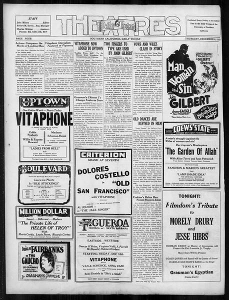 Daily Trojan, Vol. 19, No. 54, December 08, 1927
