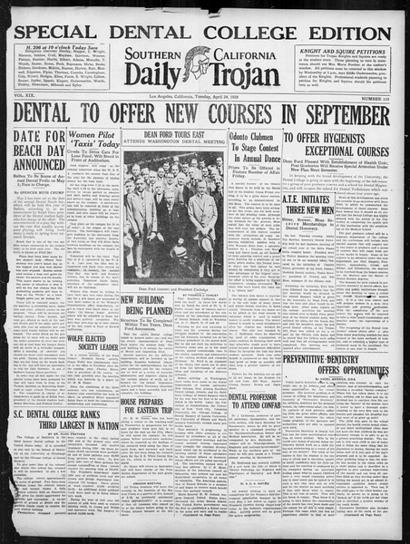 Daily Trojan, Vol. 19, No. 119, April 24, 1928