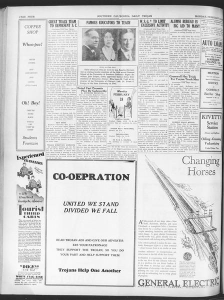 Daily Trojan, Vol. 20, No. 85, February 18, 1929
