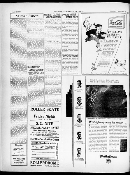 Southern California Daily Trojan, Vol. 21, No. 74, January 23, 1930